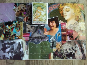 my collage about writing (c) 2010 joy